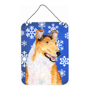 Border Collie Winter Snowflakes Holiday Metal Wall Or Door Hanging Prints Traditional Outdoor Wall Art By The Store