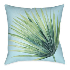 Laural Home Tropical Palm Tree Leaves II Indoor Decorative Pillow