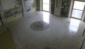 Seminato alla Veneziana classico, sfumato con mosaici