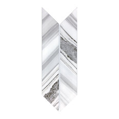 Wood Look 4 in. x 12 in. Glass Parallelogram Tile in Urban Corteccia, Box of 54