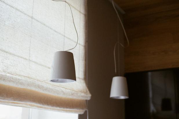 римская штора из тюля