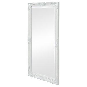 vidaXL Wall Mirror Baroque Style, White, 120x60 cm