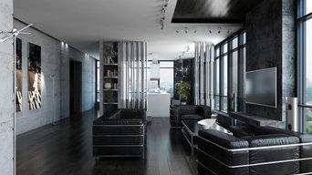 Дизайн интерьера квартиры в стиле хай-тек.