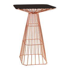 Abbyson Living Lyle Iron Bar Table, Rose Gold