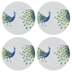 Peacock Side Plates, Set of 4
