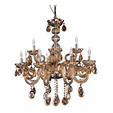 Colorful chandeliers houzz tomia crystal chandeliers athens 12 light champagne color crystal chandelier chrome finish aloadofball Image collections