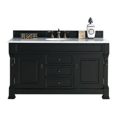 "60"" Vanity Cabinet, Antique Black, No Counter Top"