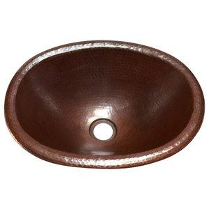 Round Raised Profile Bathroom Copper Sink With Apron Rustic Bathroom Sinks By Artesano Copper Sinks Houzz