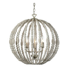 Laurel 6-Light Wooden Chandelier