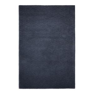 Illusory Rectangular Rug, Blue, 120x170 cm