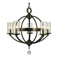 Framburg Compass 5-Light Dining Chandelier, Mahogany Bronze