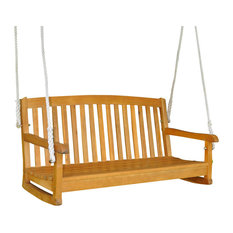 """International Caravan 48"""" Two Seater Balau Swing with Curved Back"""