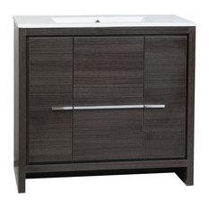 Enna 36 Gray Oak Modern Bathroom Vanity