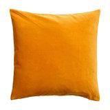 Yellow Velvet Scatter Cushion, Hypo Allergenic Microfibre