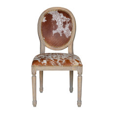 John Proffitt Home - French Cowhide Chairs, Set of 4 - Dining Chairs