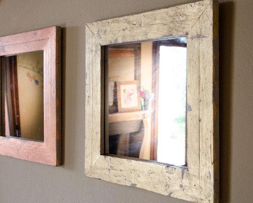 Specchi con cornici in legno di recupero - Cornici per specchi ...