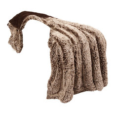 Woolly Mammoth Throw Blanket, Chocolate Brown