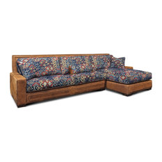 Downtown Cowboy Top Grain Leather Sectional w/Chaise, Right Facing, Southwestern