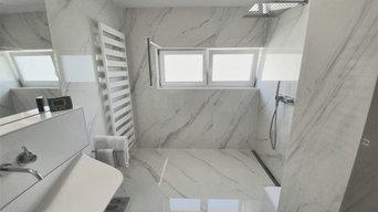 Ein Traum in weiß - Großformat 2,50 x 1,50m in Marmoroptik
