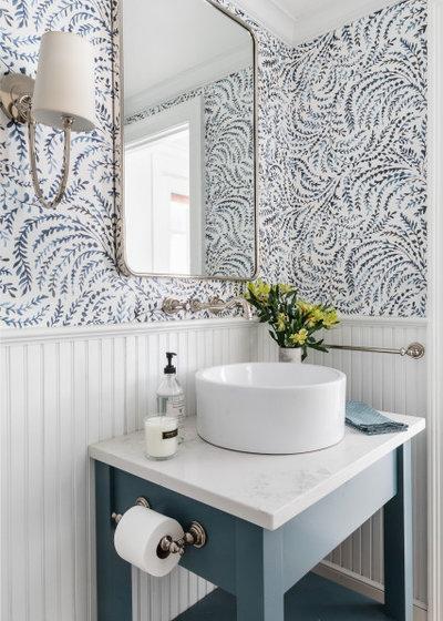 Морской Ванная комната by Boston Counters