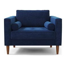 Delilah Chair, Cobalt Velvet