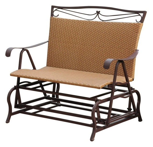 International Caravan Valencia Iron Patio Double Glider, Honey