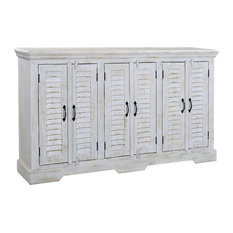 sands kundara white rub six door credenza centers and tv stands
