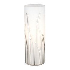 Rivato Table Lamp, White/Chrome With Glass White/Chrome Decor Shade