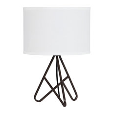 "17.5"" In Watson Espresso Metal Tripod Table Lamp"