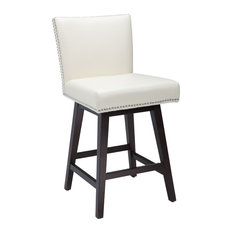 1st Avenue - Stockholm Swivel Counter Stool, Cream - Bar Stools and Counter Stools