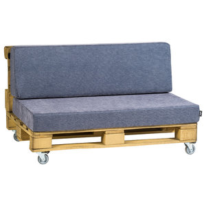 Pallet Love Seat, Blue
