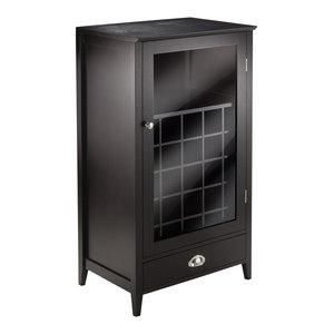Winsome Bordeaux Modular Bar Cabinet in Espresso