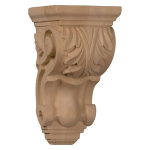Small Farmingdale Acanthus Corbel 3 1 2 W X 2 7 8 D X 7 3 4 H Traditional Corbels By Ekena Millwork
