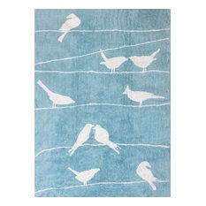 Dove Children's Rug, Light Blue, 120x160 cm