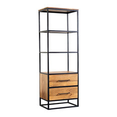 Hawthorne Collections Delancy Solid Mango Wood Bookcase Brown