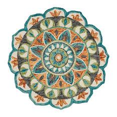 Dazzle Majestic Mandala Indoor Area Rug, 4'x4' Round