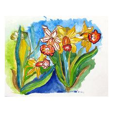 Betsy Drake Daffodils 30 X 50 Inch Doormat