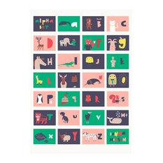Colourful Alphabet Poster, 60x85 cm
