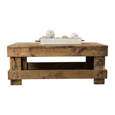 Landmark Pine Farmhouse Living Room Table, Dark Walnut, Coffee Table
