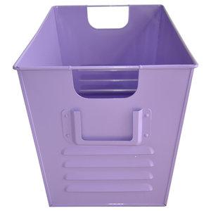 Large Oldschool Storage Bin, Light Purple