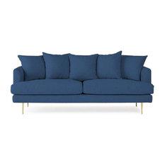 Liam Studios   Amy Handcrafted Made To Order Sofa, Denim   Sofas