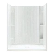 "Sterling  Accord 77""x36""x48"" Vikrell Alcove Shower Kit, White"