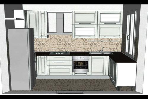 Consiglio rivestimento cucina con cappa a vista - Rivestimento cucina bianco ...