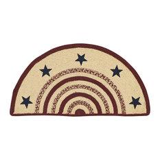 Potomac Stenciled Stars Half Circle Jute Rug