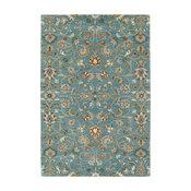 Kaleen Hand Tufted Middleton Turquoise Wool Rug, 8'x10'