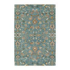 "Kaleen Hand-Tufted Middleton Turquoise Wool Rug, 5'x7'9"""