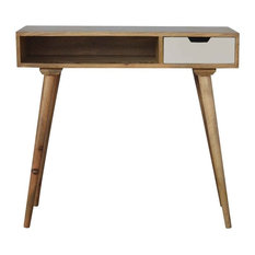 Writing Desk, Oak Finish Mango Wood