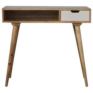 Writing Desk, Oak Finish Mango Wood