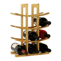 12-Bottle Bamboo Wine Rack, Natural