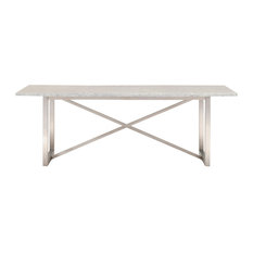 Star International Furniture   Chasm Dining Table, Brushed Stainless Steel    Dining Tables